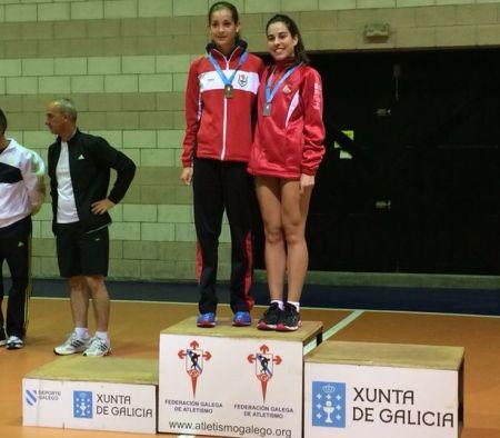 Paula Castro, en el podio
