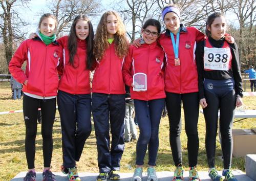 Equipo Cadete Femenino, con la medallista Arantxa Pérez