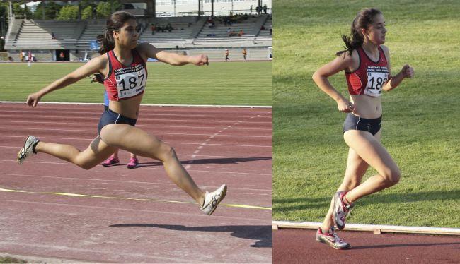 Elena Freiría (oro y plata en triple y longitud) y Daniela Ferreiro (plata en 3000m)