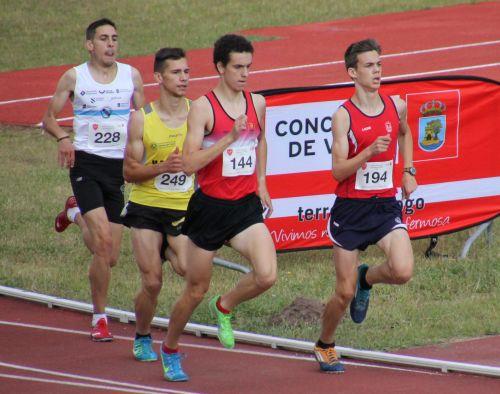 Jesús Álvarez, comandando el grupo en la primera vuelta.
