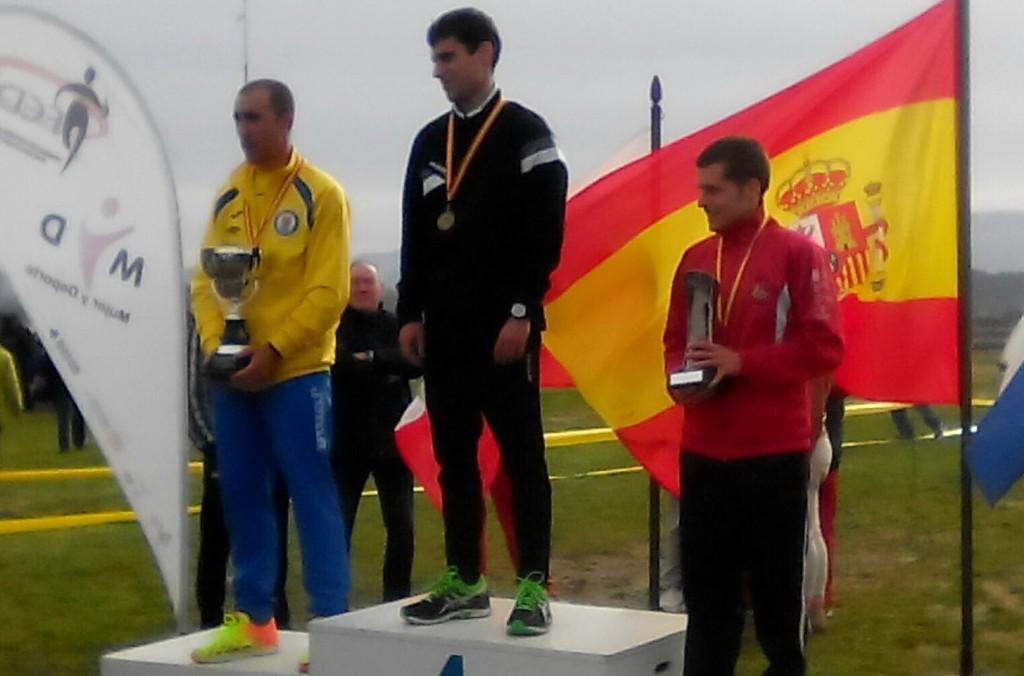 Alejandro Montero, en el tercer cajón del podio.