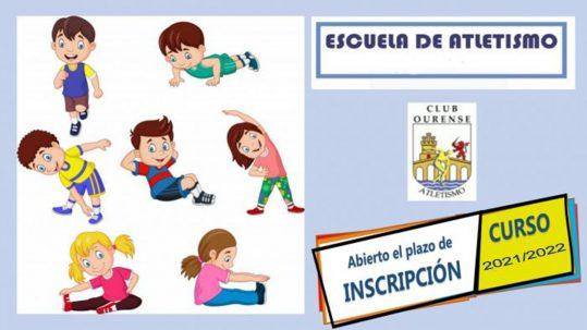 Abierta la inscripción a la escuela del Club Ourense Atletismo
